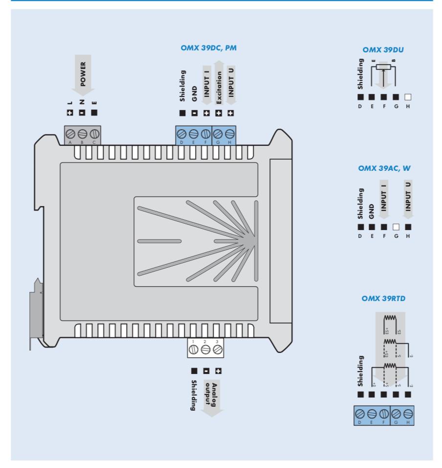Cách đấu dây bộ chuyển đổi 0-5AAC sang 4-20mA
