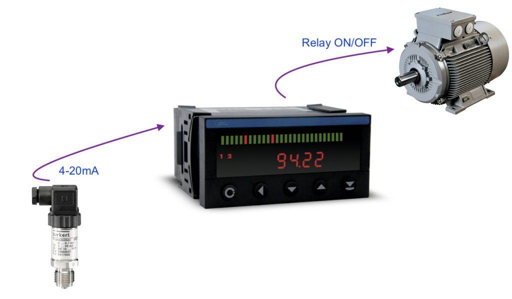Bộ điều khiển áp suất ngõ ra Relay
