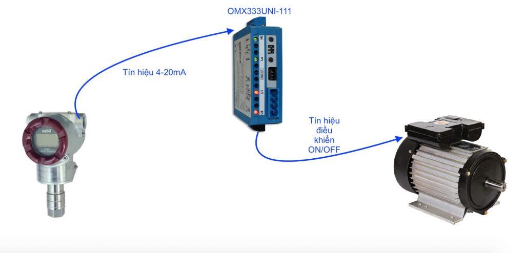 Bộ chuyển tín hiệu 4-20mA sang Relay - OMX333UNI-111