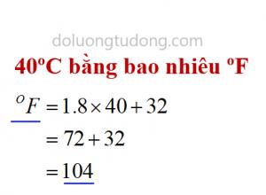 Ví dụ đổi độ C sang độ F