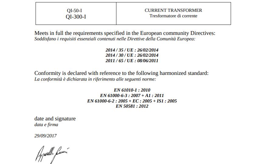 Chứng nhận CE của Biến dòng DC sang 4-20mA