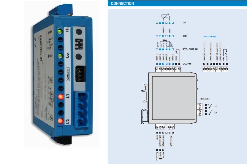 Kết nối bộ chuyển CT sang 4-20mA OMX 333PWR