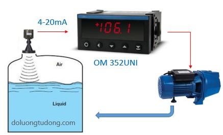 Đóng ngắt relay tại mức nước đặt trước
