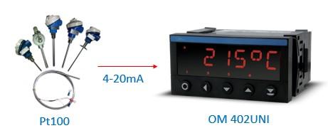 Ứng dụng bộ hiển thị nhiệt độ Pt100