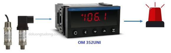 bộ hiển thị - điều khiển áp suất OM352UNI