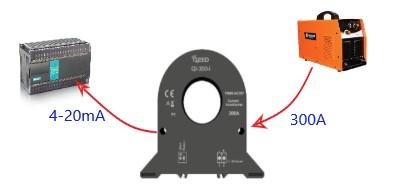 Ứng dụng biến dòng 300A sang 4-20mA