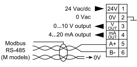 Cách đấu dây nguồn và output cho cảm biến PEL