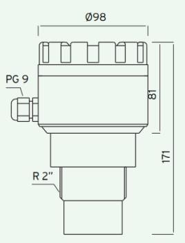 Kích thước của cảm biến ECH306