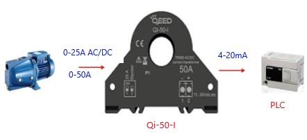 Ứng dụng chuyển dòng 0-50A AC/DC sang 4-20mA